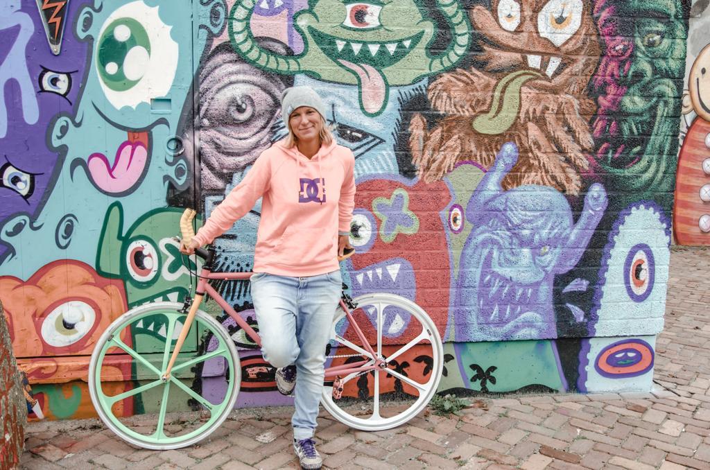 Aga with her Mango bike